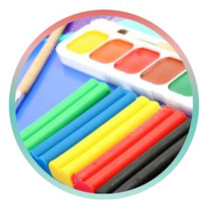 Пластилин, краски, мел